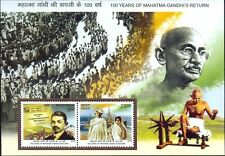 """India - """"100 YEARS OF MAHATMA GANDHI'S RETURN FROM SOUTH AFRICA"""" MS 2015 !"""