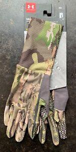 Under Armour UA Hunt Storm Womens Liner Gloves Water Repellent Hunting Sz Medium