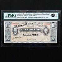 1915 Mexico - Revolutionary 10 Pesos, Pick # S535a  M924w, PMG 65 EPQ Gem Unc.
