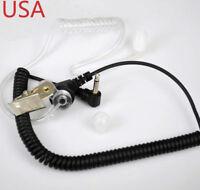 Listen Only Acoustic Tube Earpiece/headset for Radio Handheld Mic Speaker 3.5mm