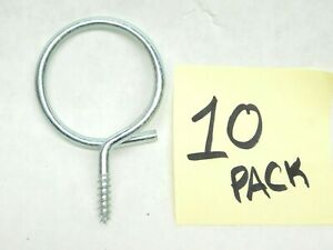"""10-Pk 2"""" Bridle Wiring Ring Bundled Cable Wood Screw Lag Wire Management Hook CT"""