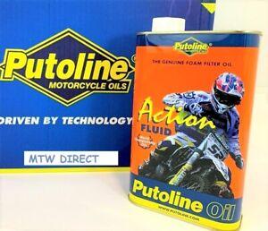 Putoline Action Fluid Motocross MX Enduro Bike Foam Air Filter Oil - 1 Litre