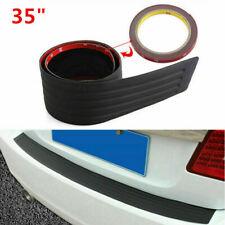 """35""""  Rear Rubber Guard Bumper Trim Cover Sill Trunk Scuff Plate Protector 1PC AA"""