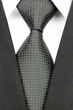 GIFTS FOR MEN Classic Mens Black Tie Necktie And Sparkly Diamonte Silver Dots