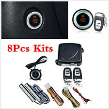 Keyless Entry 8pcs Car SUV Alarm System Engine Start Push Button Remote Starter