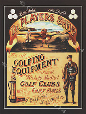 The Players Shop Golf Equipment Metal Sign, Traditional Scottish, Retro Decor