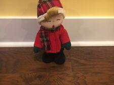 Singing Moving Christmas Caroler With Real Hair