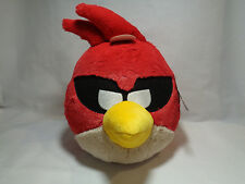 2011 Angry Birds Plush Red Space Boy Bird with Sounds & Tags 8""