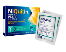 NiQuitin Clear patch Step 1 x 21 patches FREE P&P