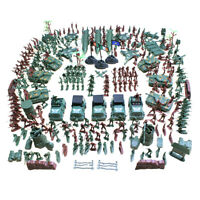 307pcs Action Figures 4cm Army Men Soldier Playset with Tanks Planes Flags
