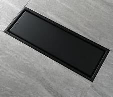 Black SUS 304 Stainless Steel Shower Drain Bathroom Floor Drain Tile Insert New