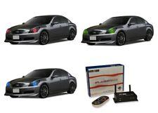 for Infiniti G37 07-09 RGB Multi Color WIFI LED Halo kit for Headlights