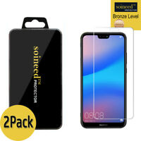 """[2-Pack] SOINEED Tempered Glass Screen Protector Saver For """" Huawei P20 Lite """""""