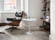 50cm Circular White Laminate Side Table - designed by Eero Saarinen