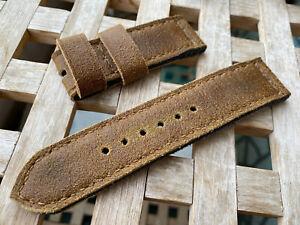 26 mm handmade ,leather watch strap. Vintage ,triple folded .135/80/26-26/6 mm