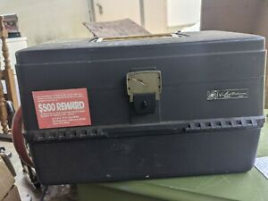 Vintage  Ted Williams fishing tackle box Expandable storage  Trays