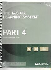The IIA's CIA Learning System: Part 4 - Business Management Skills (2 Book set)