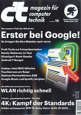 C 't magazine, issue 19/2016 of 3.9.2016: first in Google! +++ LIKE NEW +++
