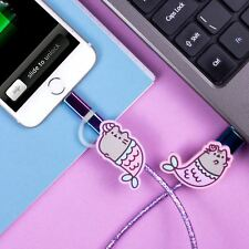 Pusheen Mermaid USB Charging Cable Micro USB Lightning Android iPhone