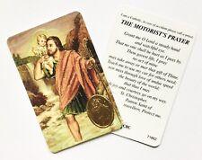 ST SAINT CHRISTOPHER / MOTORIST'S Prayer Card (Catholic) - Credit Card Size