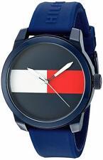 Tommy Hilfiger Original 1791322 Men's Blue Silicone Band Watch 42mm