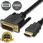 Fosmon 6FT HDMI to DVI D 24+1 Male Gold Adapter Cable HDTV LED LCD Cord Plug