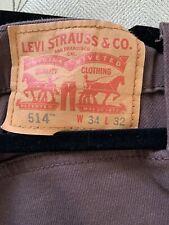 Levi Jeans Brown 514 W34 L32