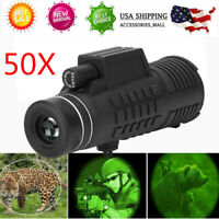 50X HD Mobile Phone Camera Telescope Low Light Night Vision Monocular 30000m USA