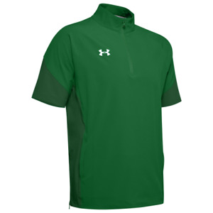 Under Armour Mens Squad Short Sleeve Coach'S 1/4 Zip Pullover KELLY GREEN LG