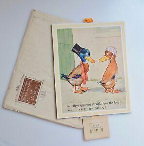 1931 Raphael Tuck Comic Art Calendar Ducks - Complete in original envelope