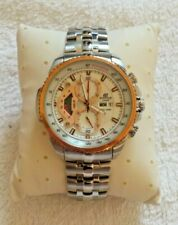 Casio Edifice Mens Copper Face Steel Chronograph Watch EF-558D - *NEW & BOXED*