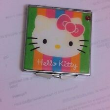 Collector Hello Kitty w/ Crystal Silver Square Mirror Compact