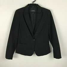 Banana Republic Womens Black Classic Blazer Single Button Stretch Career Size 10