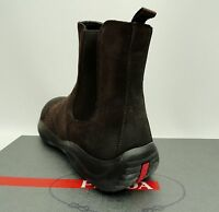Prada Brown Suede Leather ankle Boots UK9.5 43.5 US10.5 trainers New