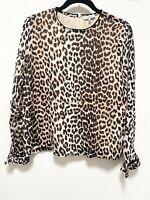 ganni leopard top Blouse Shirt Size 36