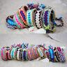 Ethnic Handmade Boho Multicolor String Cord Woven Braided Friendship Bracelet B