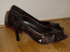 NEW Apt 9 Womens open toe Kendal Brown Croc high heels shoes 8.5 M