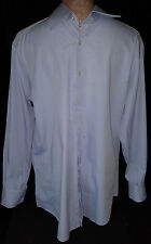 GIANFRANCO CENCI Mens Long Sleeve Button Down Shirt Sz L Large 17- 43 Blue Italy