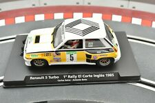 96073 FLY 1/32 SLOT CAR RENAULT 5 TURBO 1# RALLY EL CORTE INGLES 1985
