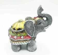 Feng Shui Elephants Statues Figurines Silver Rhinestone Lucky Wealth Fortune Usa