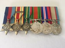 World War 11 Replica Full Size Set of Medals 8th Army.