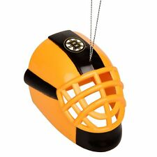 Boston Bruins Goalie Mask Hockey Helmet Plastic Christmas Tree Holiday Ornament