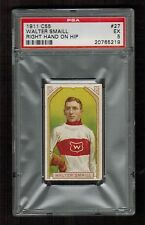 PSA 5  WALTER SMAILL 1911 C55 Hockey Card #27 (Right Hand on Hip)