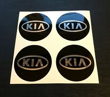 4x Alloy Wheel stickers chrome effect 60 mm fit KIA center badge trim cap hub