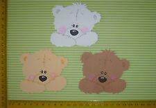 Scrapbooking  Stanzteile 3 x  Teddy 5