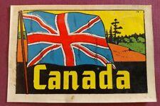 VINTAGE CANADA FLAG DECALCO TRAVEL DECAL STICKER WINDOW LUGGAGE RV VW SOUVENIR