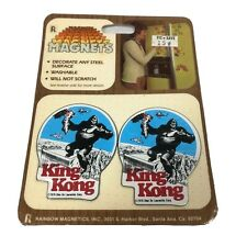 Vintage 1976 KING KONG Movie Magnets Rainbow Magnetics Dino De Laurentiis NOS