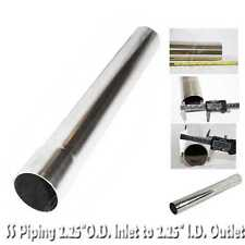 """DIY  Tailpipe Exhaust Pipe and Aapter 2.25"""" O.D. to 2.25"""" I.D. 18"""" Length T304"""