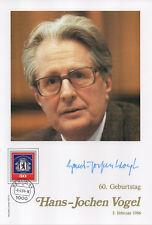 Philswiss Autogramm - Hans-Jochen Vogel - limitiert