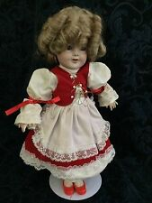 """Shirley Temple 16"""" + Porcelain Doll In Red"""